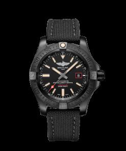 Breitling Avenger Blackbird 44, Black DLC coated titanium, 44mm, Black, V17311101B1W1