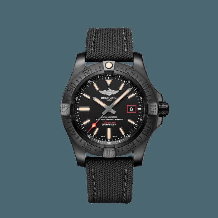 Breitling Avenger Blackbird, Black DLC coated titanium, 48mm, Black, V17310101B1W1
