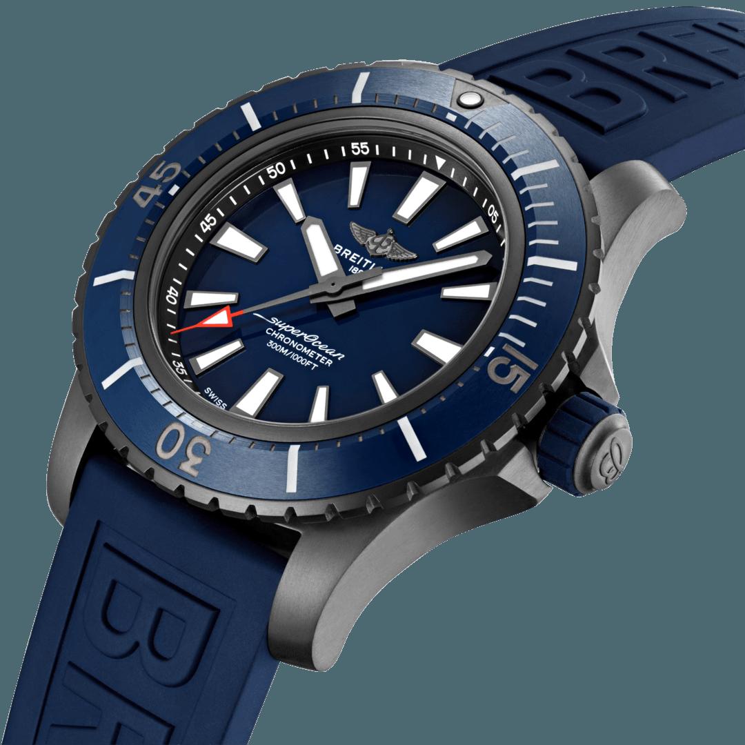 Breitling Superocean Automatic 48, DLC-Coated Titanium, Blue dial, V17369161C1S1