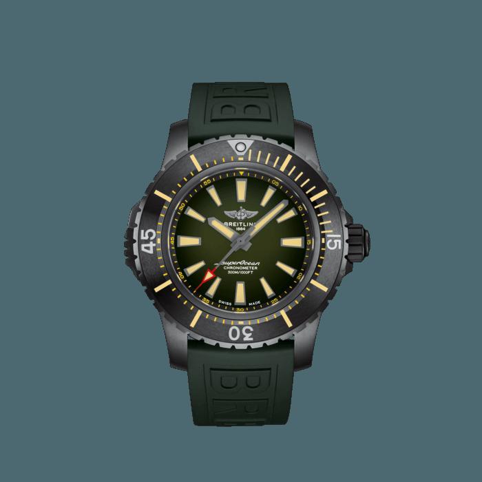 Breitling Superocean Automatic 48, DLC-Coated Titanium, Green dial, V17369241L1S2