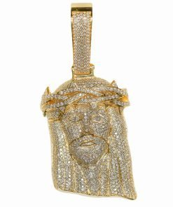 Gold Jesus Pendant With Diamonds