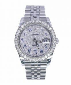 Rolex 116234 Datejust 36mm Aftermarket Diamond Dial and Bezel Jubilee Bracelet Watch