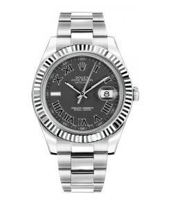 Rolex 116334 Datejust 41mm Black Arabic Dial Watch